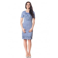 "Embroidered dress ""Petrykivka New Denim"""