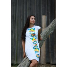 "Embroidered dress ""Forget-me-not"""