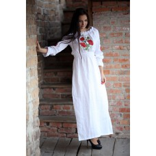 "Embroidered dress ""Maxi Poppies 2"""