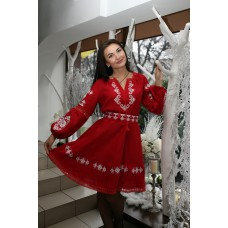 "Embroidered dress ""Fluffy Red"""