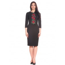 "Embroidered dress ""Roses in Night"""