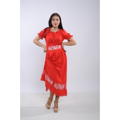 "Embroidered dress ""Beautiful Flame"""