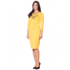 "Embroidered dress ""Yellow Edge"""