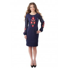 "Embroidered dress ""Navy Petrykivka Style"""