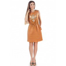 "Embroidered dress ""Mustard Shade"""
