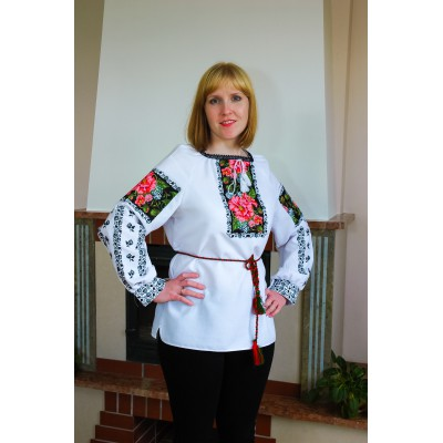 "SALE!! Embroidered blouse ""Mother's Garden"", size M2"
