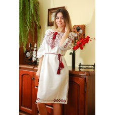"Embroidered dress ""Martha"" handmade"