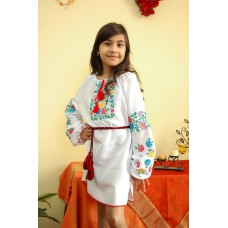 "Embroidered dress/blouse/tunic ""Cute Flowers"""