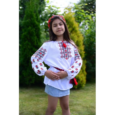 "Embroidered blouse for girl ""Mountain Roses"""