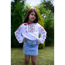 "Embroidered blouse for girl ""Cutie Grapes 2"""