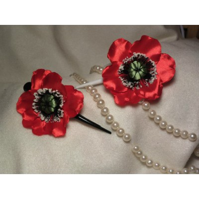 "Hairclip ""Poppy new"""