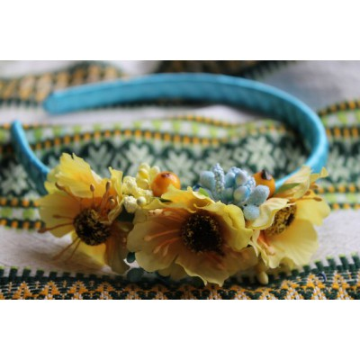 "Ukrainian Hairband ""Sunflowers"""