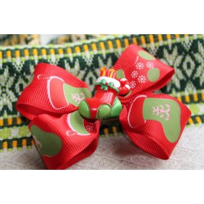 """Hairclip """"Santa"""""""