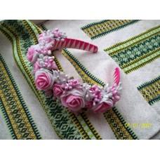 """Ukrainian Wreath """"Gentle Roses"""""""