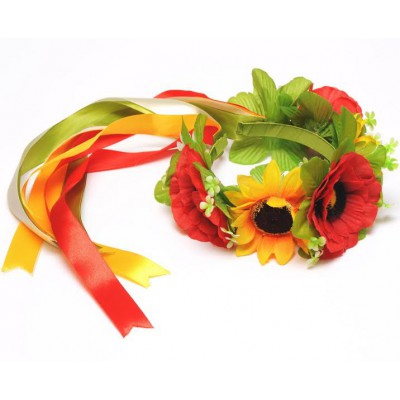 "Ukrainian Wreath ""Poppies&Sunflowers"""