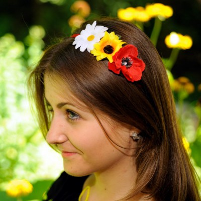 "Ukrainian Headdress ""Flowers on hairband"""