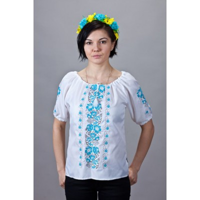 "Embroidered  blouse ""Roses&Clouds"""
