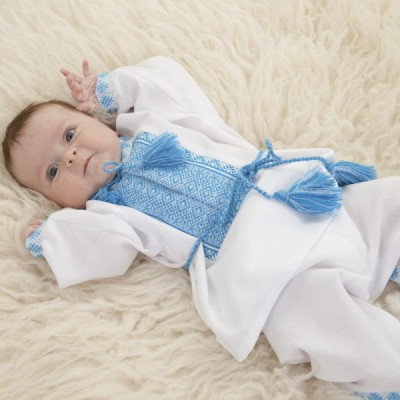 "Embroidered costume for baptism ""Boy 1"""