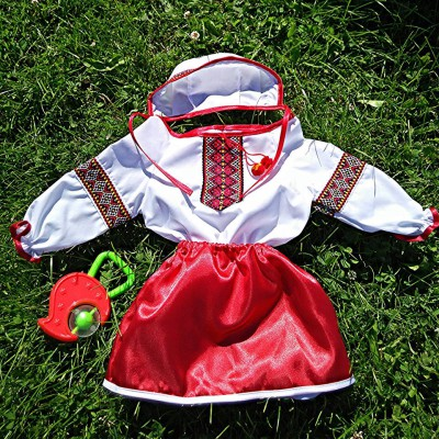 "Embroidered costume for baptism ""Girl 3"""