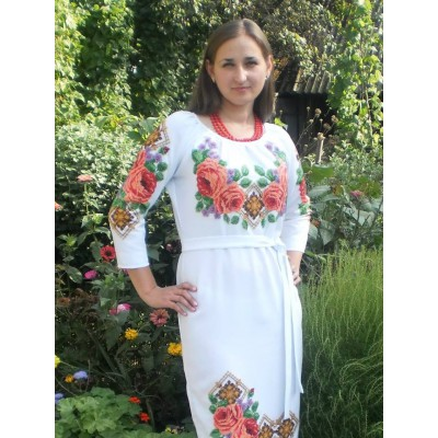 "Beads Embroidered Dress ""Queen of Summer"""