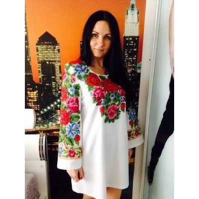 """Beads Embroidered Blouse """"Bouquet for the Queen"""""""
