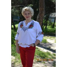 """Beads Embroidered Blouse """"Bouquet"""""""
