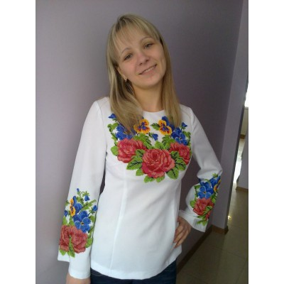"Beads Embroidered Blouse ""Colourful Emotion"""