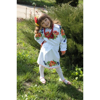 """Beads Embroidered Dress for girl """"Sweet Baby"""""""