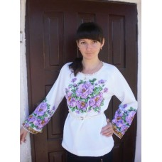 """Beads Embroidered Blouse """"Purple Haze"""""""