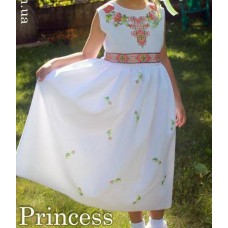 "Beads Embroidered Dress for girl ""Princess of March"""