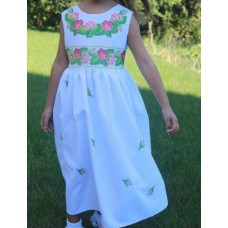 "Beads Embroidered Dress for girl ""Princess of April"""