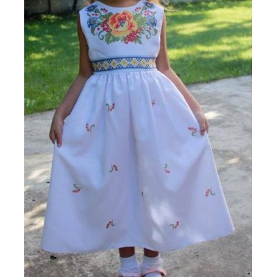 "Beads Embroidered Dress for girl ""Princess of June"""