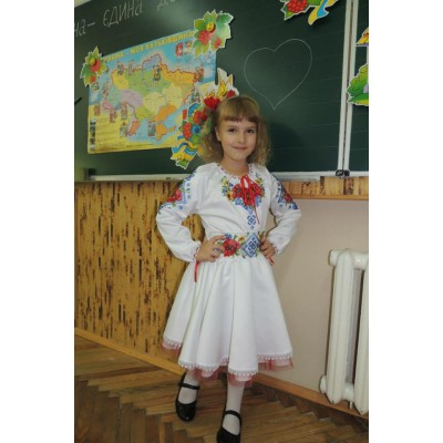 "Beads Embroidered Dress for girl ""Young Lady"""