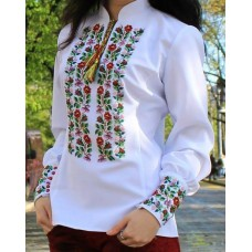 "Beads Embroidered Blouse ""Flower Symmetry"""