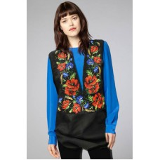"Beads Embroidered Blouse ""Carpathian Night"""