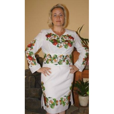 "Beads Embroidered Dress ""Mega Design"""
