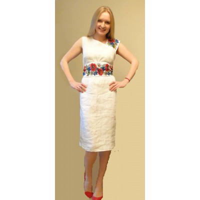 "Beads Embroidered Dress ""Simplicity"""