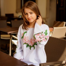 "Beads Embroidered Blouse ""Pink Lily"""