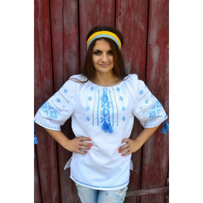 "Embroidered blouse ""Merejka Blue"""