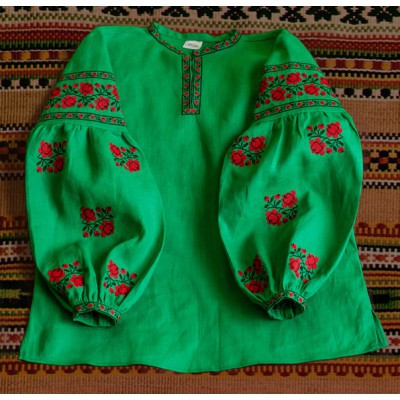 "Boho Style Ukrainian Embroidered Folk  Blouse ""Sun"" 13"