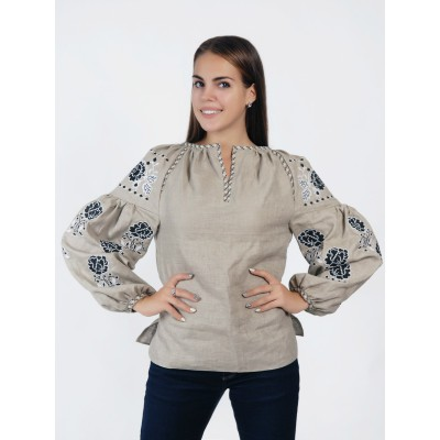 Boho Style Ukrainian Embroidered Folk  Blouse 1