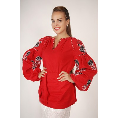 Boho Style Ukrainian Embroidered Folk  Blouse 10