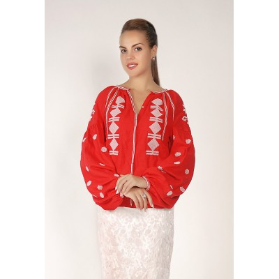 Boho Style Ukrainian Embroidered Folk  Blouse 11