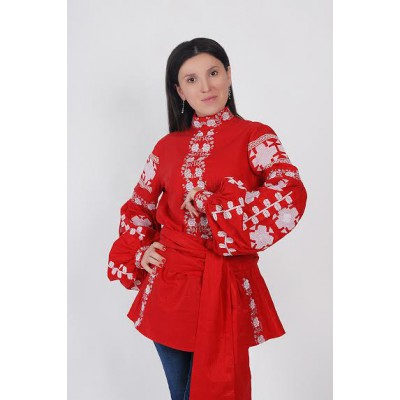 Boho Style Ukrainian Embroidered Folk Blouse 15