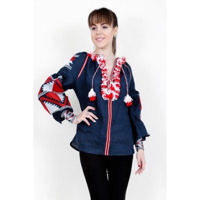 Boho Style Ukrainian Embroidered Folk Blouse 17