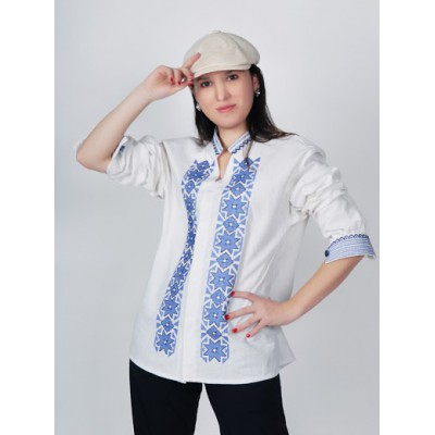 Boho Style Ukrainian Embroidered Unisex Shirt 18