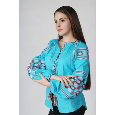 Boho Style Ukrainian Embroidered Folk Blouse 22