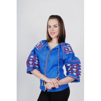 Boho Style Ukrainian Embroidered Folk Blouse 24