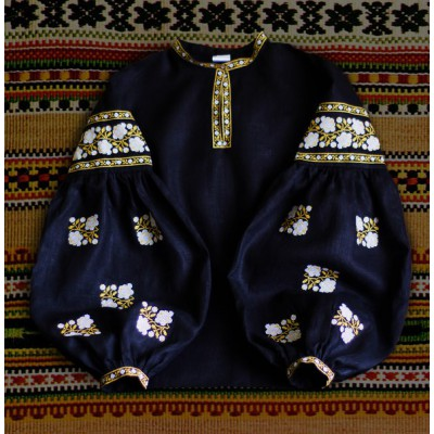 "Boho Style Ukrainian Embroidered Folk  Blouse ""Sun"" 10"
