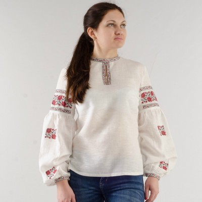 "Boho Style Ukrainian Embroidered Folk  Blouse ""Sun"" 2"